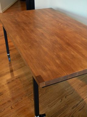 Custom Made Vintage Industrial Dining Table