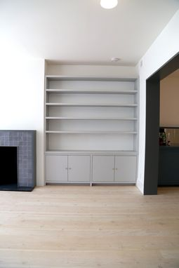 Custom Made Built-In Bookcase And Media Center