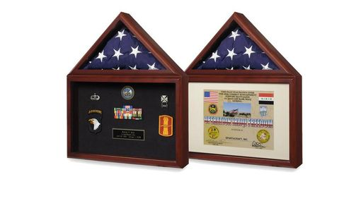 Custom Made Fathers Day Flag Display Case