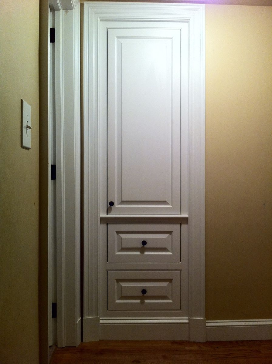 handmade built in coat closet by j s woodworking. Black Bedroom Furniture Sets. Home Design Ideas