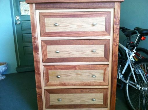 Custom Made Oak And Mahogany Dresser