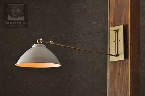 Custom Made The Atwater Modern Rustic Wall Arm Sconce