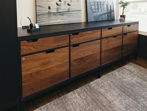 Custom Made Office Credenza And Storage