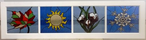 "Custom Made Stained Glass Panels - ""Seasons"" (P-58)"
