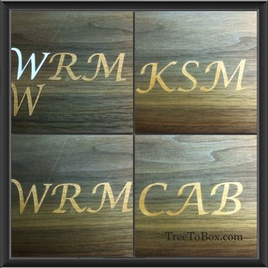 Custom Made Inlaid Images And Text For Custom Boxes