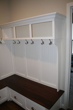 Custom Made Mudroom Bench