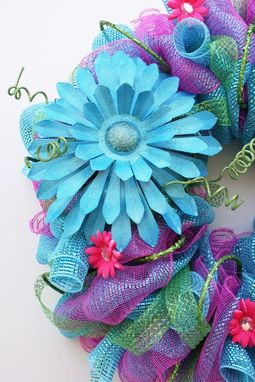 Custom Made Summer Mesh Wreath