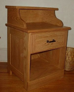 Custom Made Red Oak Nightstand