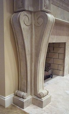Custom Made Fireplace Mantle And Corbels
