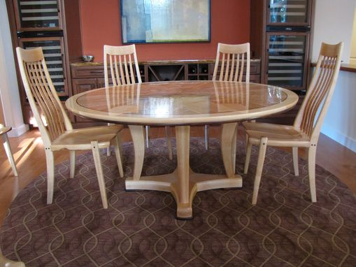 Custom Made Round Pedestal Table And Chairs