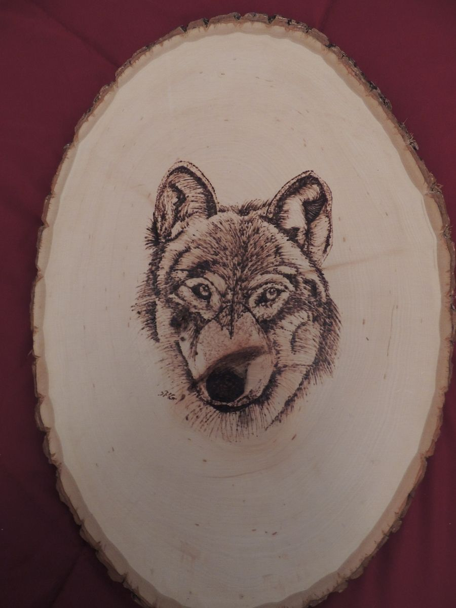 Hand Made Wolf Wood Burning By Art Your Way Custommade Com