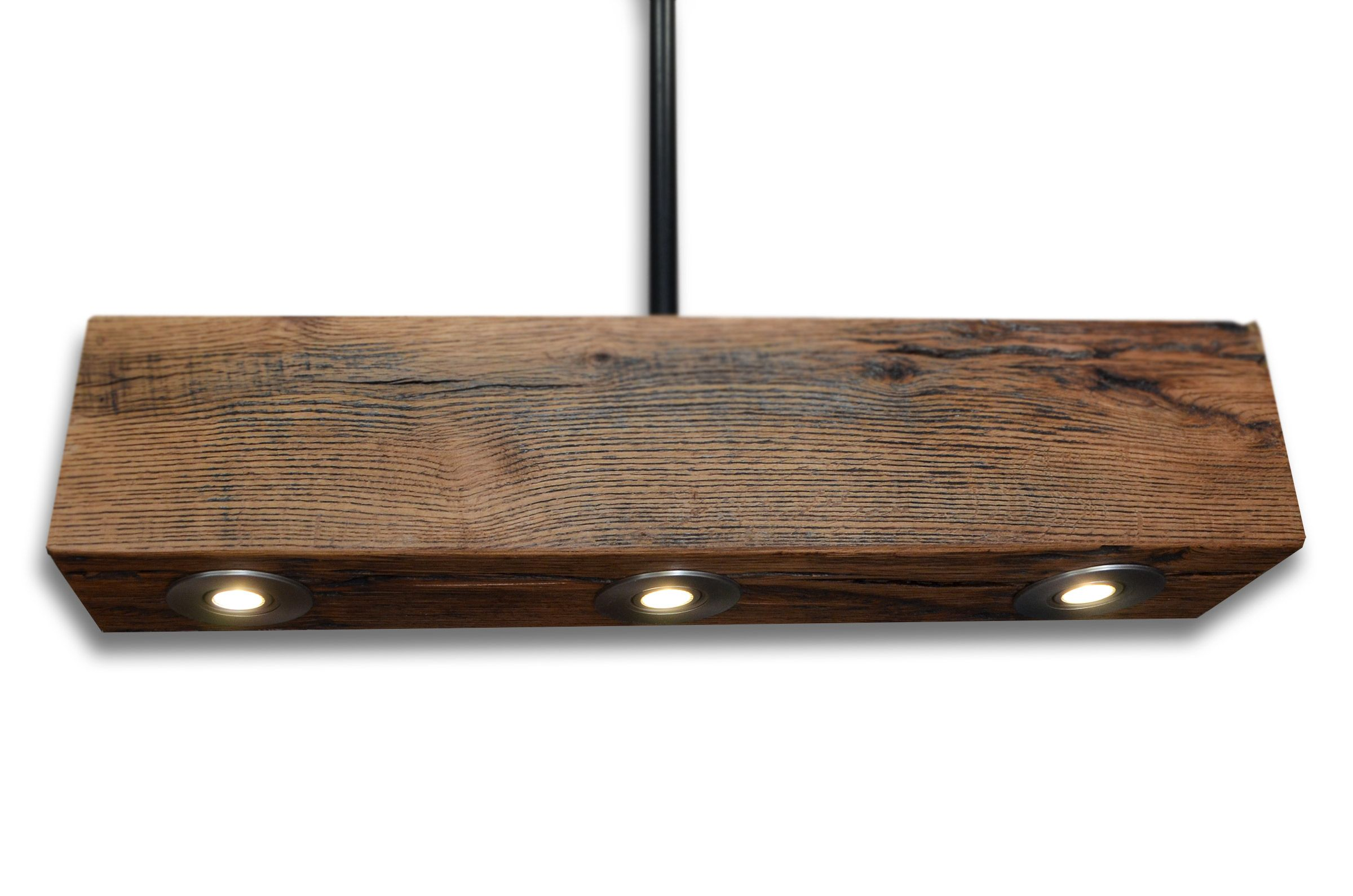 Custom Made Rustic Oak Ceiling Light