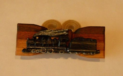 Custom Made The Wood Bow Tie For Railroad Buffs - Featuring Steam Engine #2960