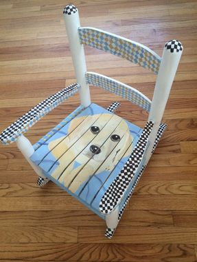 Custom Made Yellow Lab Rocking Chair