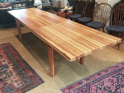 Custom Made Reclaimed Longleaf Pine Farm Extension Table