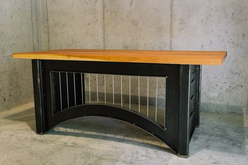 Custom Made Suspension Bridge Inspired Desk