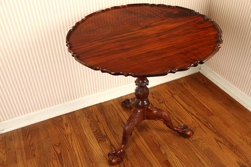 Custom Made Walnut Pie Crust Tea Table In The Philadelphia Style