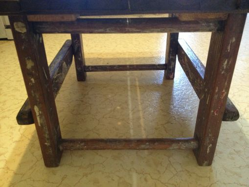 Custom Made Painter's Ladder And Rustic Work Table Wood - Coffee Table - Reclaimed