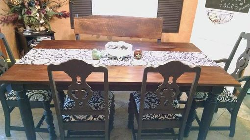 Custom Made Rustic Farm Style Table