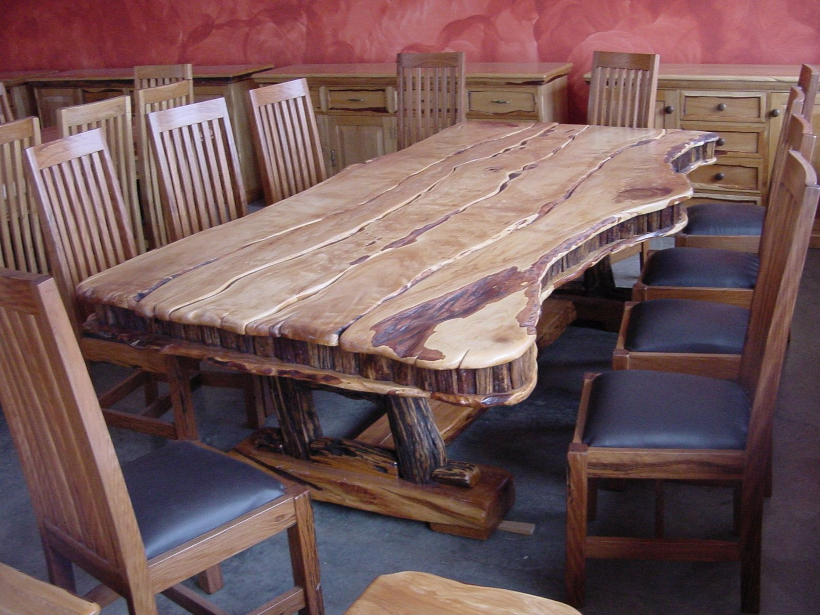 hand made dining table 10 seat yellowood sneezewood by african