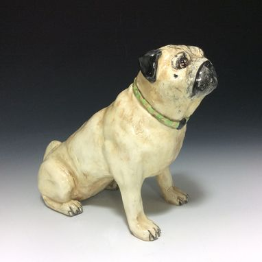 Custom Made Dog Sculpture, Pet Portraits, Sculpted In Clay