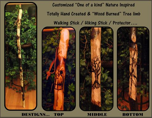 Custom Made Wood Anniversary,Retirement Gift,Hiking Stick,Walking Stick,Cane,Hikers Gift