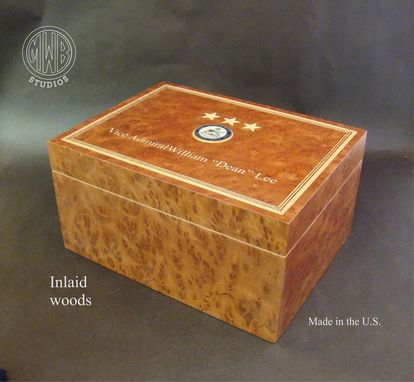 Custom Made Custom Humidor Of Redwood Burl Over Spanish Cedar