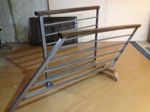 Custom Made Horizontal Slat Railing Brushed Steel