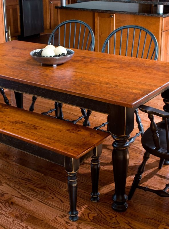 Cherry Dining Table & Matching Bench
