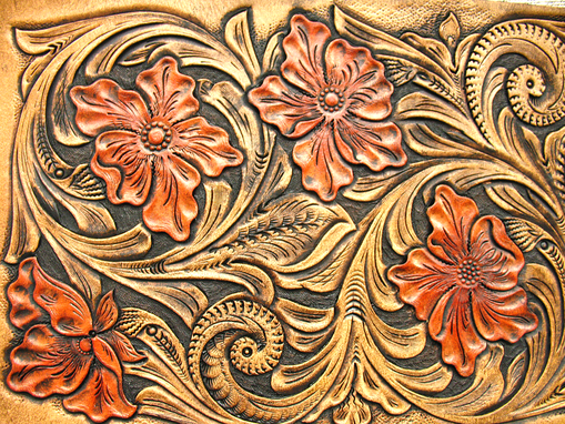 Custom Made Hand Tooled, Hand Carved Sh_Travel Case.
