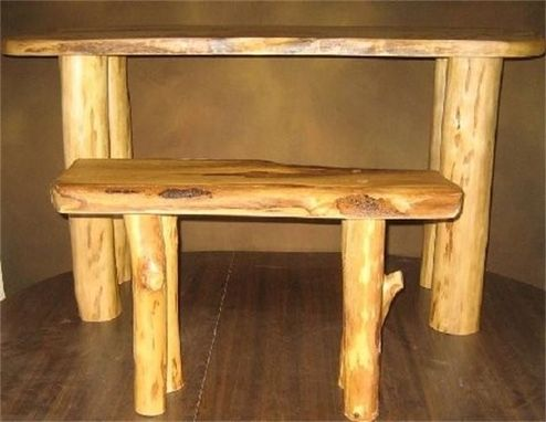Custom Made Cypress Nesting Table And Bench