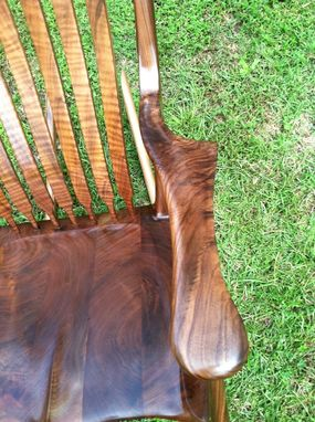 Custom Made Walnut Rocker