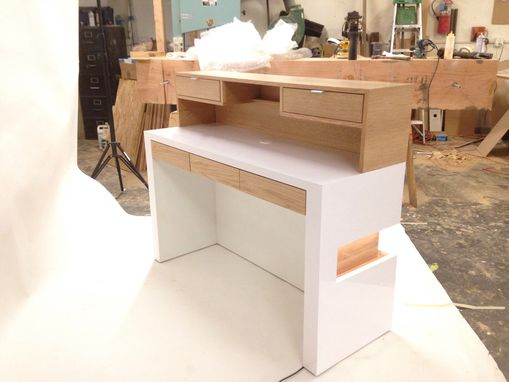 Custom Made Modern White Reception Desk
