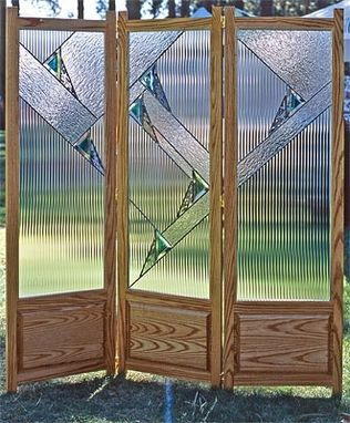 Custom Made Stained Glass Room Divider