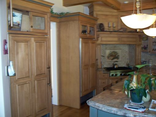 Custom Made Simple English & Italian Kitchen Remodel