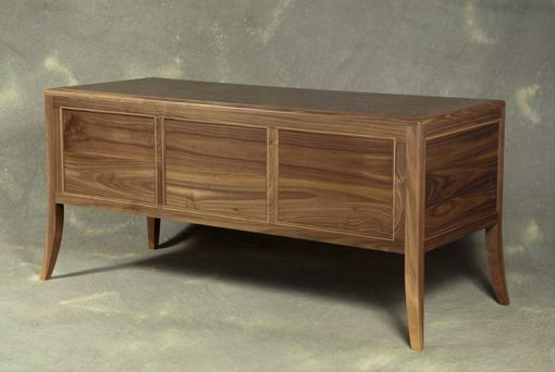 Custom Made Walnut And Walnut Burl Art Deco Desk