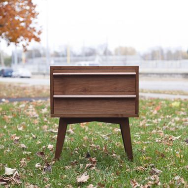 Custom Made Modern Walnut Nightstand