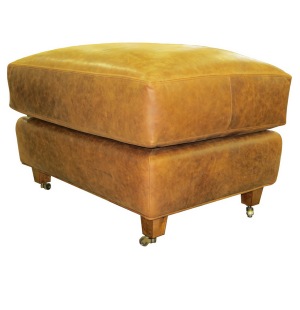 Custom Made Semi-Attached Occasional Lounge Chair's Ottoman