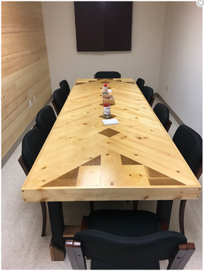 Custom Made Chevron Conference Table
