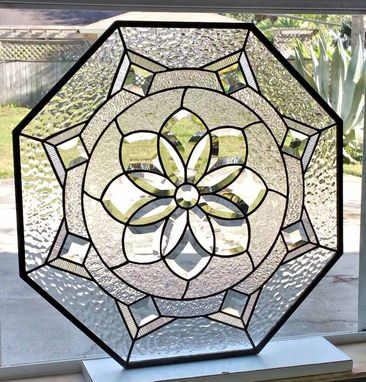 Custom Made Victorian Beveled Flower Panel
