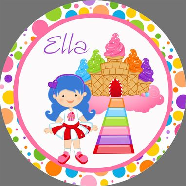 Custom Made Candy Land Personalized Melamine Plate