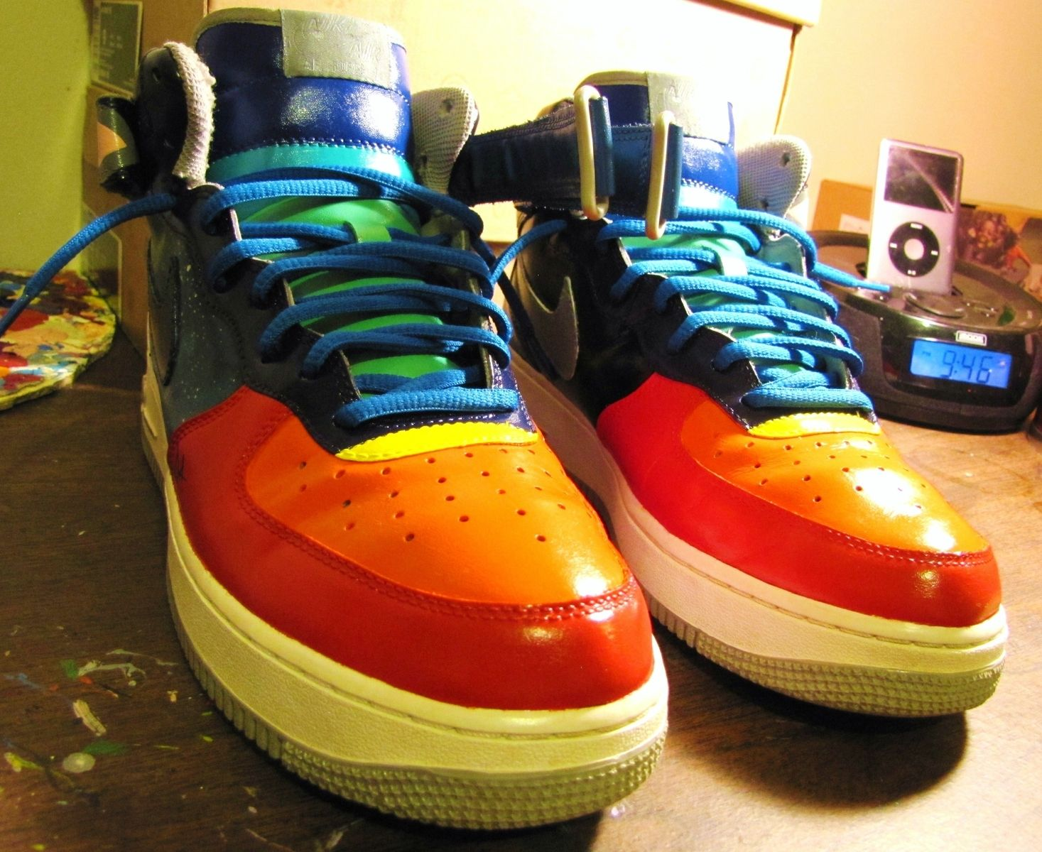 Handmade Hand Painted Nike Space Jam Air Force 1 Mid Customs By