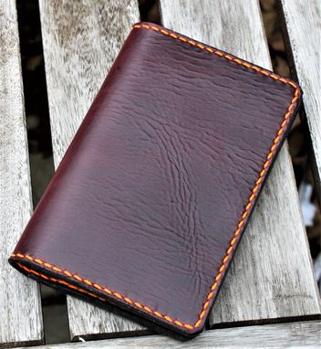 Custom Made Handmade Cover For Field Notes Card Wallet Scribo Horween Leather Purple Cavalier