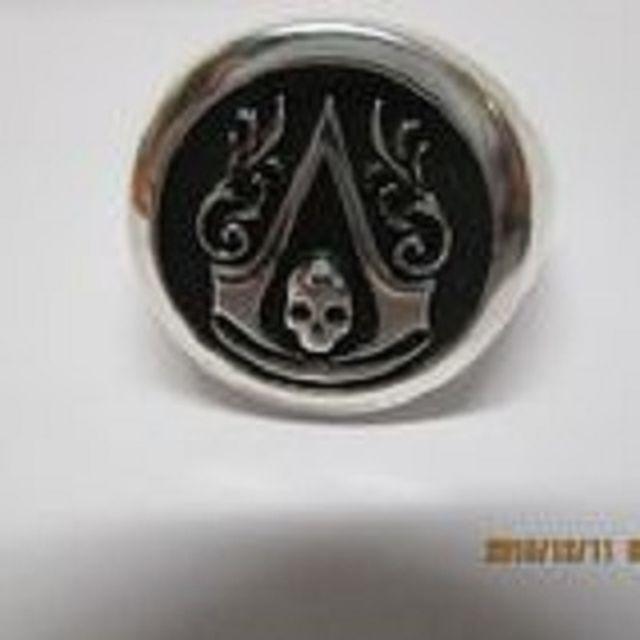 Buy A Custom Made Assasins Creed Ring Black Flag Symbol Signet Ring