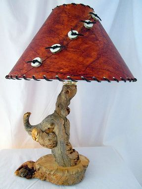 Custom Made Rustic Pine Burl Log Table Lamp Wooden Lamp Design Country Home Decor
