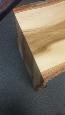Custom Made Live Edge Waterfall Desk