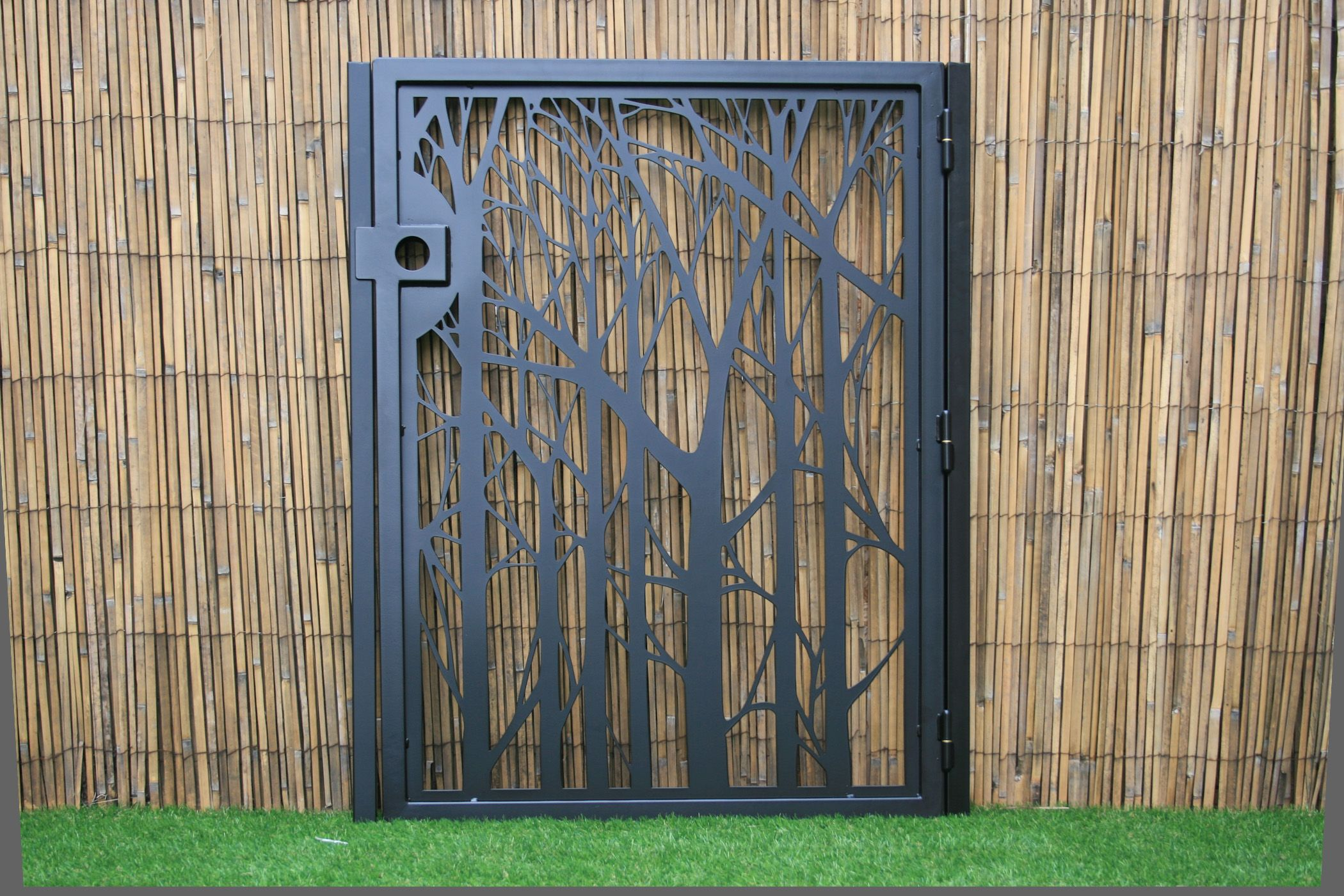 Buy A Handmade Decorative Forest Steel Gate Nature Metal