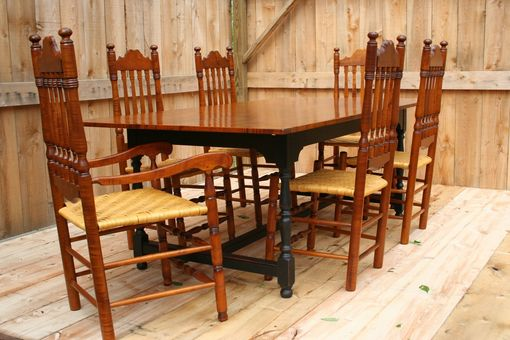 Custom Made Tavern Table/Bannister Back Chairs