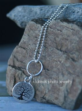 Custom Made Silver Tree Of Life Charm On Ball Chain Necklace
