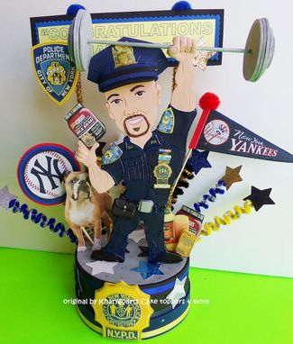 Custom Made Personalized Gift For Him, Police Party Topper, Police Retirement, Unique Gift For Husband